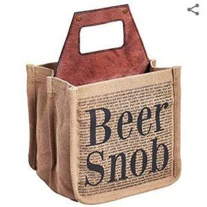 Mona B Upcycled Beer Snob Beer Caddy